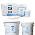 Epoxy adhesive / two-component / sturdy / for metal